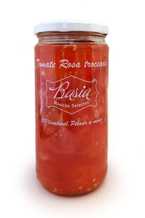 BoteTomate01 web Conserva de tomate rosa Basia troceado