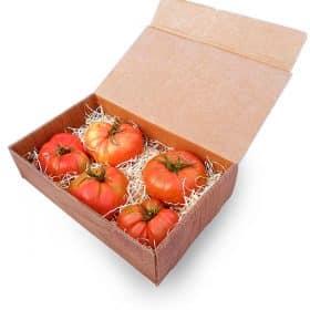 Caja pequena peq Tomate Basia, tomate rosa de Huesca